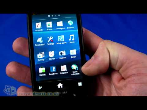 Sony Ericsson Xperia Pro demo video