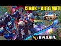 DICIDUK TEAM S.A.B.E.R = AUTO MATI DONG! SABER ONE SHOT ONE KILL BUILD + GIVEAWAY SKIN MP3