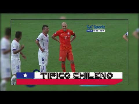 TIPICO CHILENO Gary Medel contra Robben