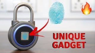 Fingerprint Lock/Padlock Unboxing   Unique Gadget   Tech Unboxing 🔥