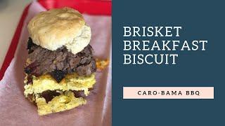 BBQ for Breakfast? Brisket Breakfast Biscuit Sandwich Review