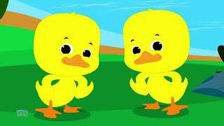 Five Little Ducks Went Swimming One Day | Ducks Song | Nursery Rhymes For Kids