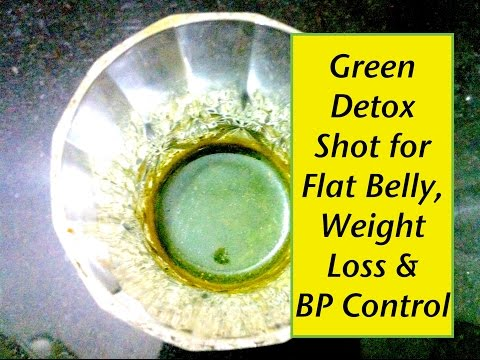 Green Detox Juice Shot for Weight Loss, Flat Belly & Blood Pressure Control