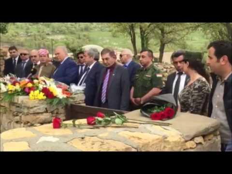 Делегация ККО посетила могилу Мустафы и Идриса Барзани