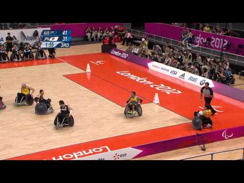 Wheelchair Rugby - AUS vs JPN - Mixed Semifinal 2 - London 2012 Paralympic Games.mp4