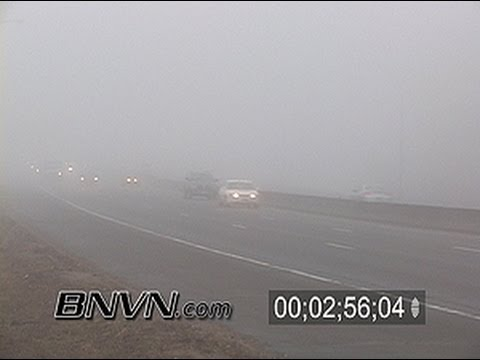 3/24/2007 Dense Fog Video from Minneapolis, MN - news footage