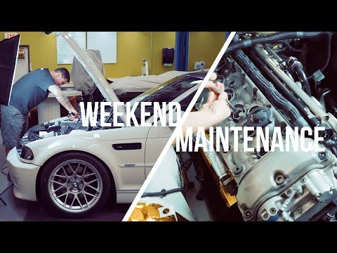 Weekend Maintenance - E46 M3 Valve Cover Gasket and Spark Plugs