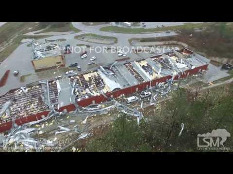 1-21-16 Petal, Mississippi Aerial Tornado Damage