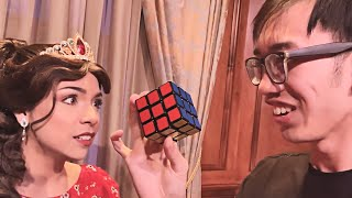 Asking Princesses if They Can Solve a Rubik's Cube! - Disney World