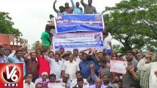 Khammam District Lorry Operators Participate In Nationwide Indefinite Strike