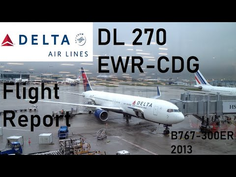 Delta Air Lines flight DL270 - Newark to Paris CDG - Boeing 767-300ER *Full Flight HD*