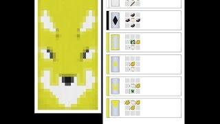 Как сделать флаг с рисунком лисы в майнкрафт