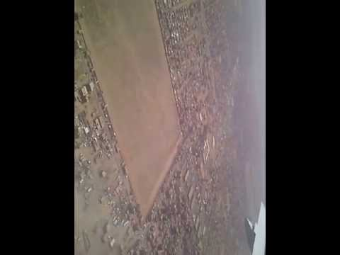 Etihad Airways landing at Khartoum Airport