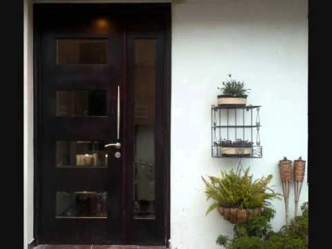 Puertas de madera con vitral vitrales vidrios youtube for Catalogo de puertas de madera