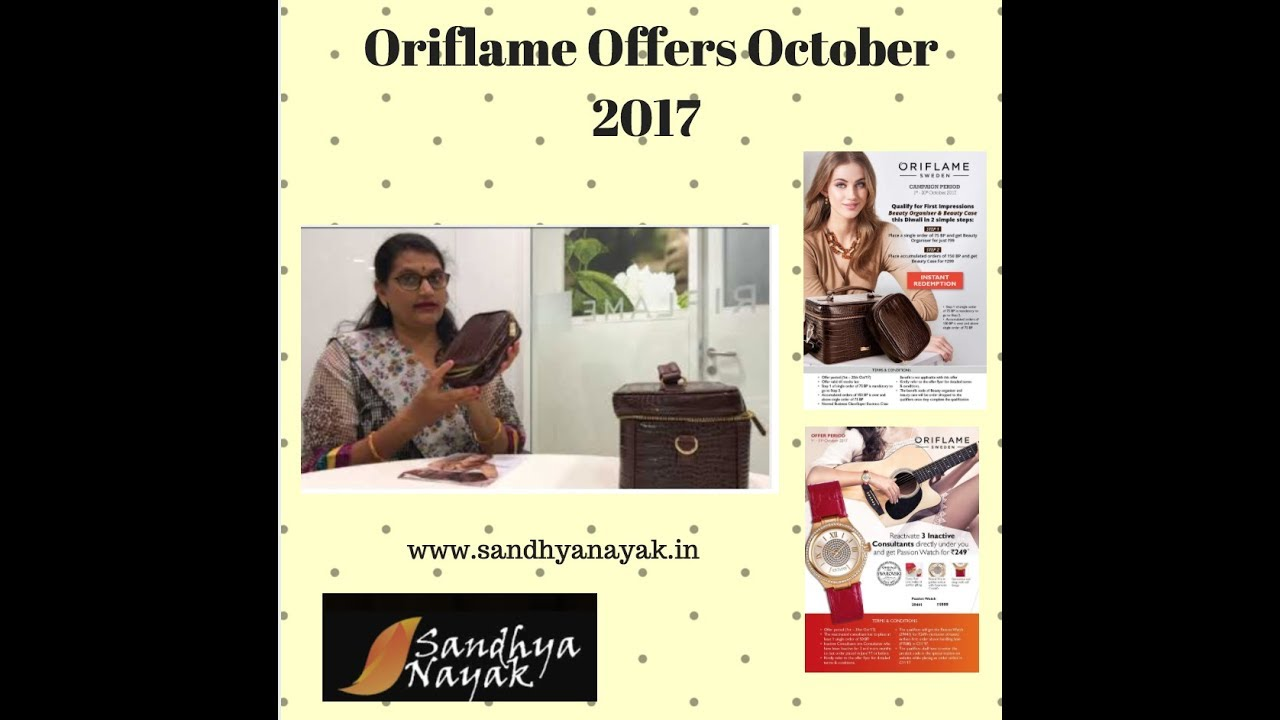Oriflame October Offers | Best Activity Offer Oriflame October ...