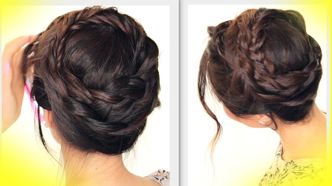 Summer Hairstyles Cute Crown Braid Tutorial Updo Hairstyle Youtube