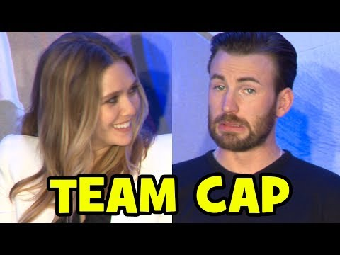 Captain America Civil War Global Press Conference Team Captain America