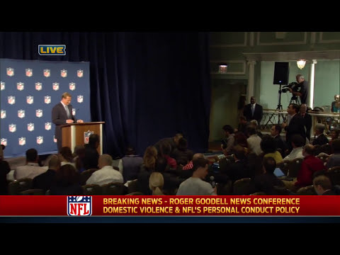 Benjy Bronk of Howard Stern disrupts Roger Goodell's NFL press conference