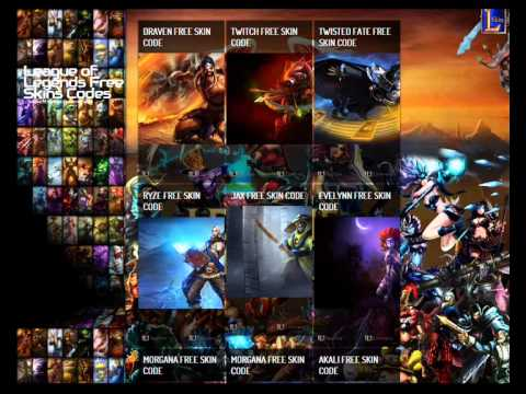 League of Legends Free Skins Codes