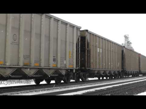 1080p HD - NS Coal Train Heads West Through Oak Harbor, OH 1/7/13