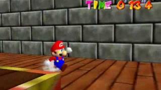 Super Mario 64 Record Secret Peach's Slide 13'4
