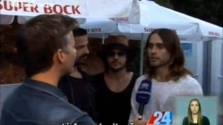 30 Seconds to Mars Video - 30 Seconds To Mars interview on RTP - Portugal, July 20
