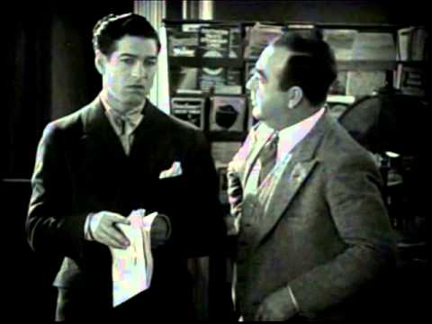 """A scene from the 1928 film """"Lights of New York,"""" with Cullen Landis and Eugene Pallette. For more information, visit moviedavid.blogspot.com!"""