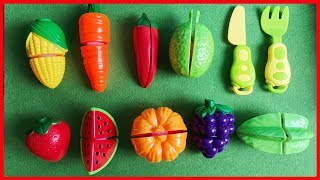 Đồ chơi trẻ em trái cây 20 loại, đu đủ, dâu, nho, cam, xoài, dưa - Cutting vegetables (Chim Xinh)