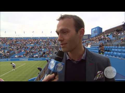 Ross Hutchins behind the scenes at the Aegon Championships