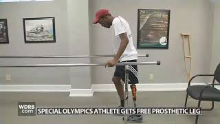 St.Kitts Special Olympics athlete gets prosthetic leg -  WDRB 41 Louisville News