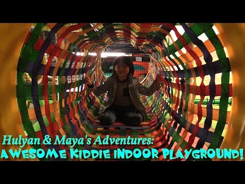 Hulyan & Maya's Adventures: A Trip to a Playground! Slides, Kiddie Jumper, Video Games, Etc...