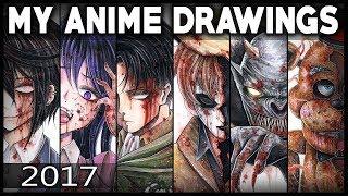 ART SHOWCASE - Anime + Creepypasta Drawings (2017)