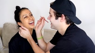 BOYFRIEND DOES MY MAKEUP!