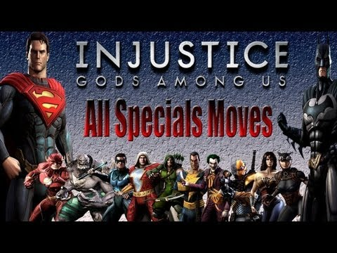 All Specials Moves Exhibition - Injustice Gods Among Us