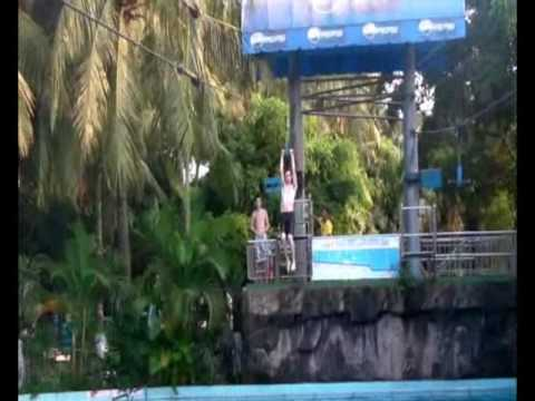 zip line at dam sen water park Water Wizz Zip Line