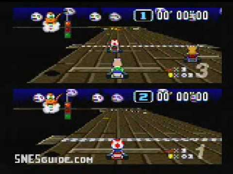 Super Mario Kart - SNES Gameplay