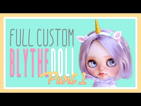 Full Custom Blythe Doll - Part I - Carving & Faceup