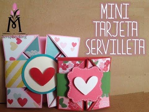 TUTORIAL Tarjeta Servilleta Mini/Mini Napkin Card