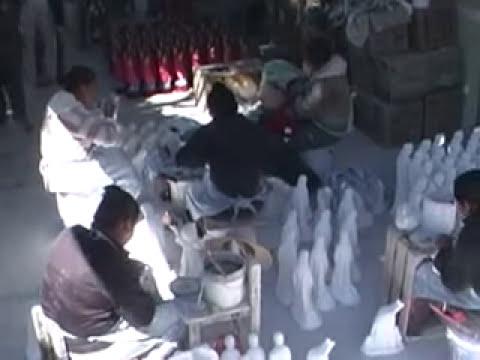 Figuras de yeso para nacimientos en Puebla