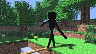 Monster School - Walking on a log [Minecraft Animation]