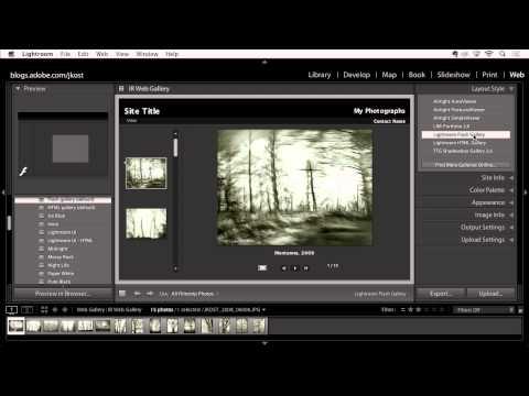 Lightroom 5: Share Images Online
