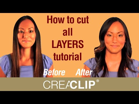 How to cut all LAYERS tutorial - Medium to Long layered hairstyles
