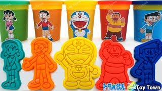 Doraemon Colors Play Doh with Cookie Cutter Surprise Toy ドラえもん