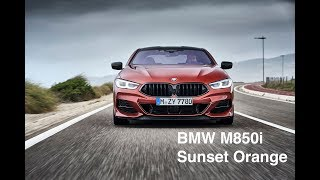 BMW M850i Coupe looks stunning in Sunset Orange