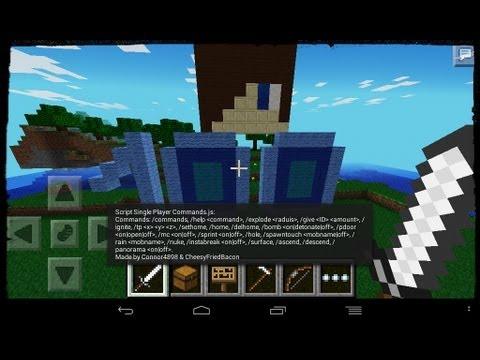 Minecraft Pe l Comandos l Single Player