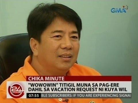 24 Oras: 'Wowowin' titigil muna sa pag-ere dahil sa vacation request ni Kuya Wil