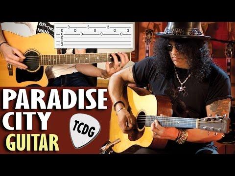 Paradise City (Guns N´ Roses)   Acoustic Guitar Easy Tab Lesson TCDG