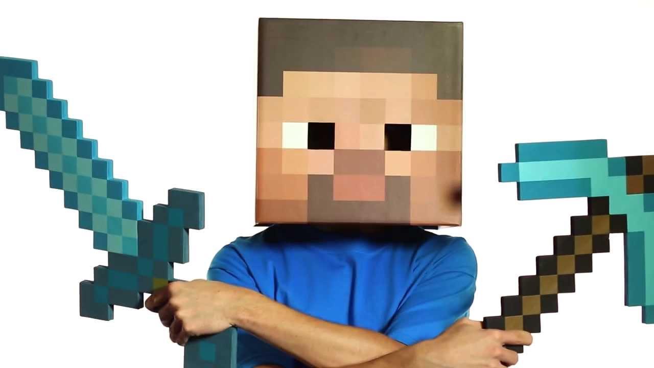 Minecraft Diamond Pickaxe And Sword Crossed Minecraft Foam Diamond Sword