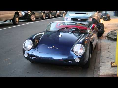 Porsche 550 Spyder in NYC - Parked. Start Up. Acceleration