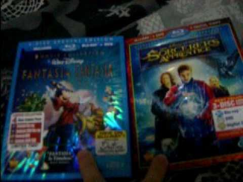 Fantasia/Fantasia 2000 and The Sorcerers Apprentice Blu ray combo pack unboxing
